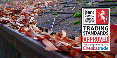 Gutter cleaning in Folkestone, Hythe, Dover and Capel-le-Ferne